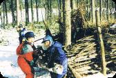 ターザンの森での基地作り 北明やまざと幼稚園